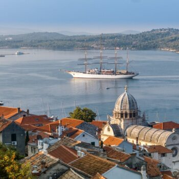 Šibenik, panorama view from fortress, photo by DreamDivision, photo credit by Šibenik Knin County Tourist Board