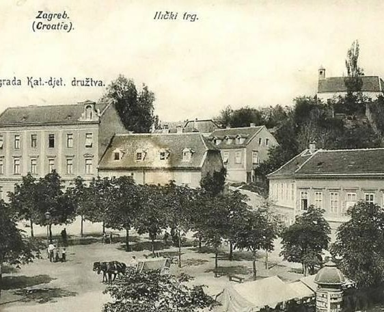 Mali Plac Ilički trg, Zagreb, Croatia