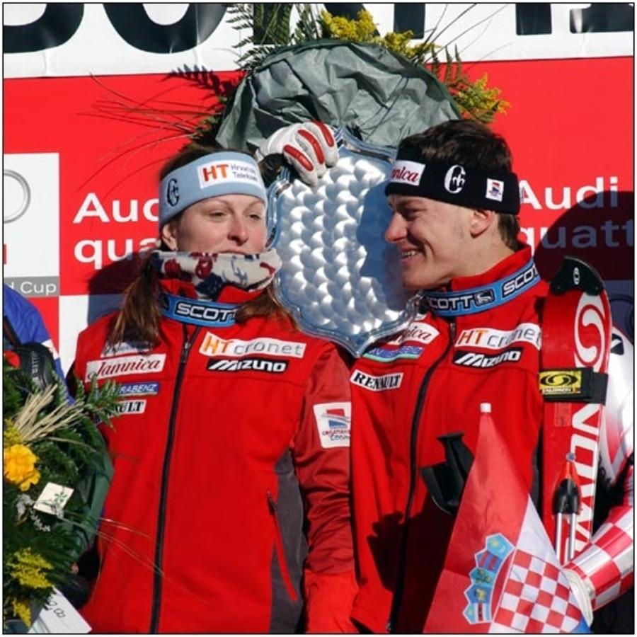 Janica and Ivica Kostelić, Croatian skiing prodigies