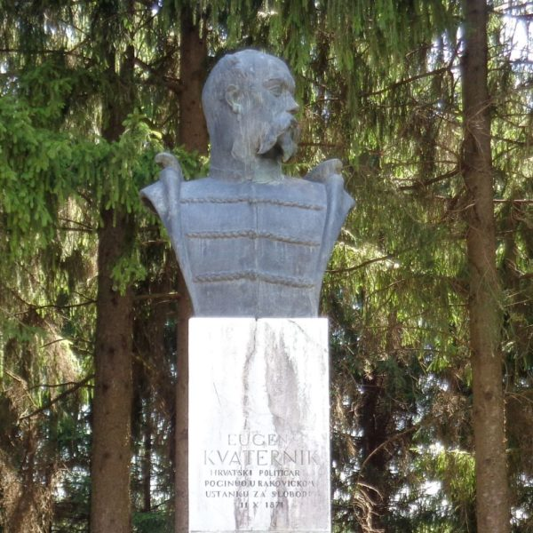 Eugen Kvaternik (1825-1871), Croatian politician, jurist, writer and revolutionary - bust in Rakovica, Croatia by Silverije [CC BY-SA 4.0 (https-:creativecommons.org:licenses:by-sa:4.0)]