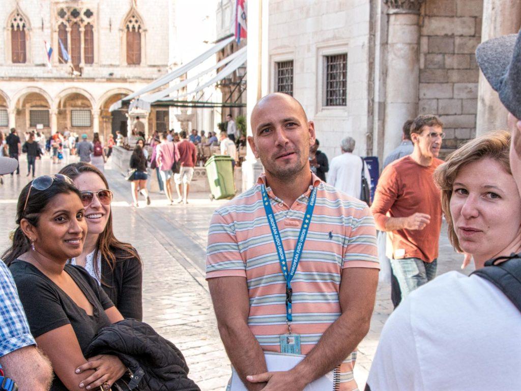 Ivan Vuković Vuuka, on tour in Dubrovnik, Croatia, photo credit by Dubrovnik Tourist Guides
