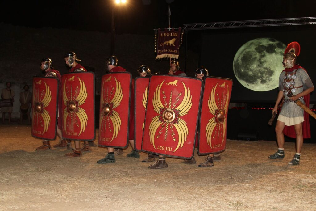 Roman legions, Burdum Idas, NP Krka, Croatia, photo credit by NP Krka