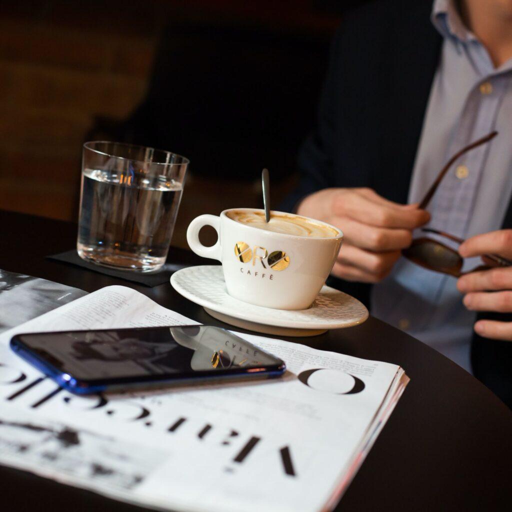 Caffe Oro in Verde city, Zagreb, Croatia, photo by Verde