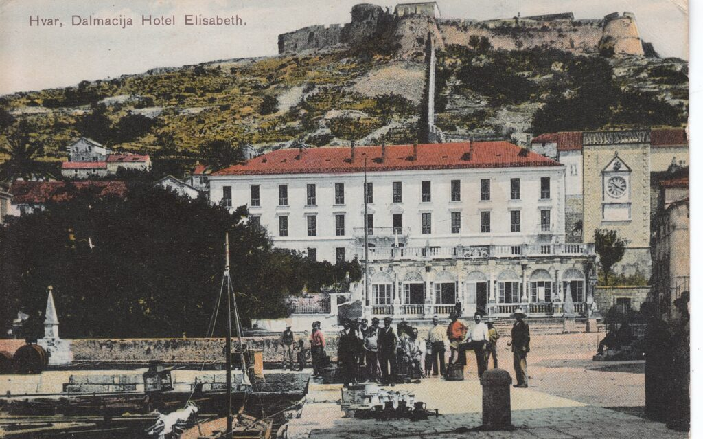 The old postcards tell a story of Hvar's tourism