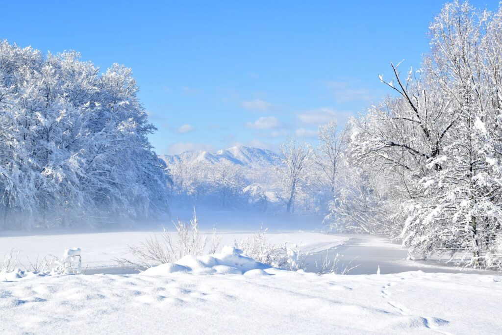 A winter idyll in Lika, Croatia, photo credit by Gospić TB
