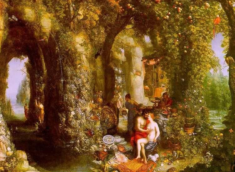 Odysseus and Calypso in Cave, https:upload.wikimedia.org:wikipedia:commons:c:c0:jpg by Jan Brueghel the Elder