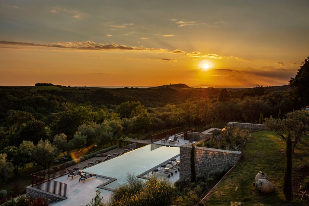 San Canzian,village & hotel, Buje, Istria, Croatia, sunset, photo credit by San Canzian