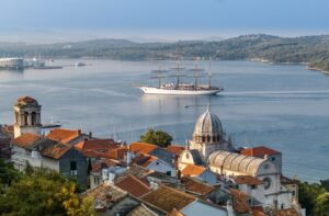 Šibenik, panorama view from fortress, photo by DreamDivision, photo credit by Šibenik Knin County Tourist Board, Croatia