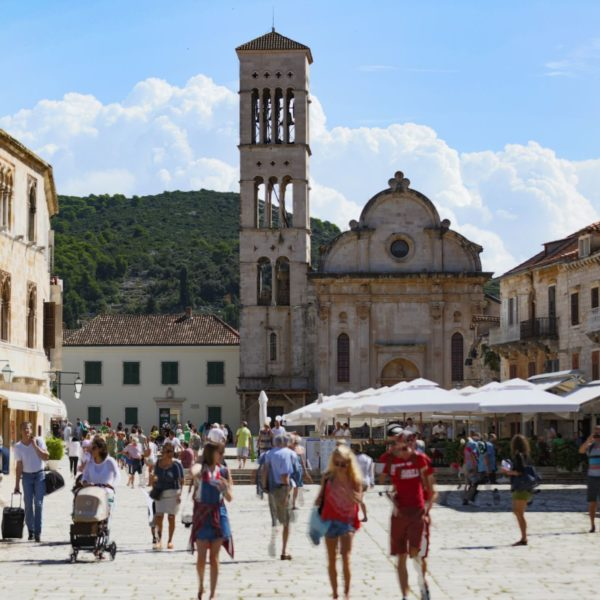 Hvar town, photo by TB of Hvar town