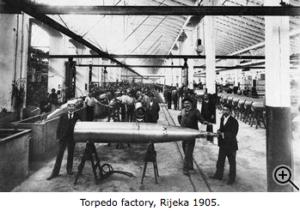 Torpedo Factory, Rijeka year 1905., Croatia, Croatian Invention