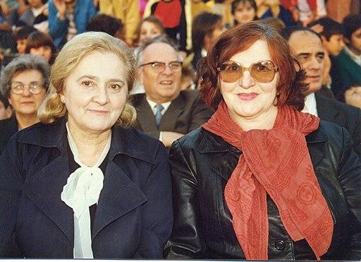Mira Alečković and her stepister Vesna Parun