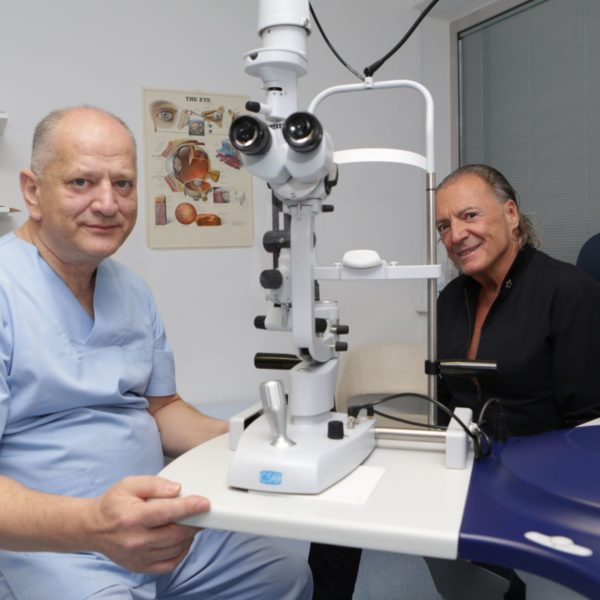 Prof. Nikica Gabric and Armand Assante photo credit by Svjetlost Eye Clinic