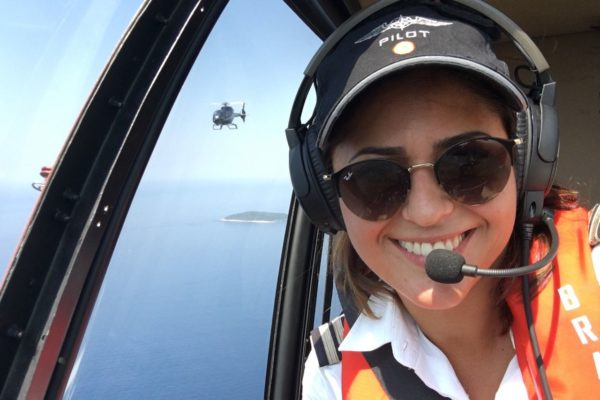 Laura Protat, helicopter captain photo by Laura Protat