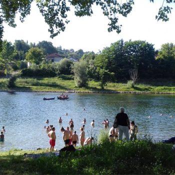 The Swimming area Slava Raškaj in Ozalj, Croatia photo by Ozalj TB