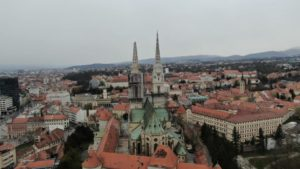 The cathedral in Zagreb, after the Eartquake on 22.3.2020, photo by Igor Vignjević
