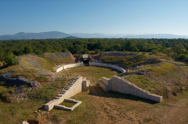 The amphitheater in Burnum, NP Krka, Croatia, photo credit by NP Krka