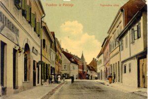 Shooping street, Trgovačka cesta, Petrinja, Croatia